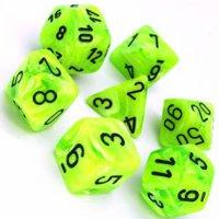 Set di Dadi Vortex (Verde Acido, Nero)