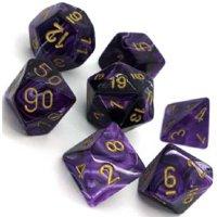 Set di Dadi Vortex (Viola, Oro)