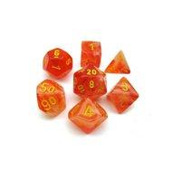 Set di Dadi Ghostly Glow (Arancione, Giallo)