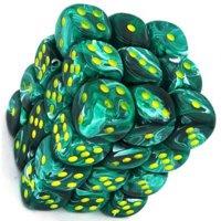 Set di Dadi 36D6 Vortex (Verde Malachite, Giallo)