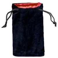 Sacchetto Grande Velluto Nero Seta (ROSSO)