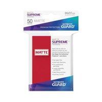 Bustine Standard Ultimate Guard Supreme Matte 50 (ROSSO)