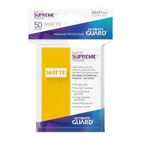 Bustine Standard Ultimate Guard Supreme Matte 50 (GIALLO)