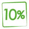 10% di sconto minimo su tutto il catalogo